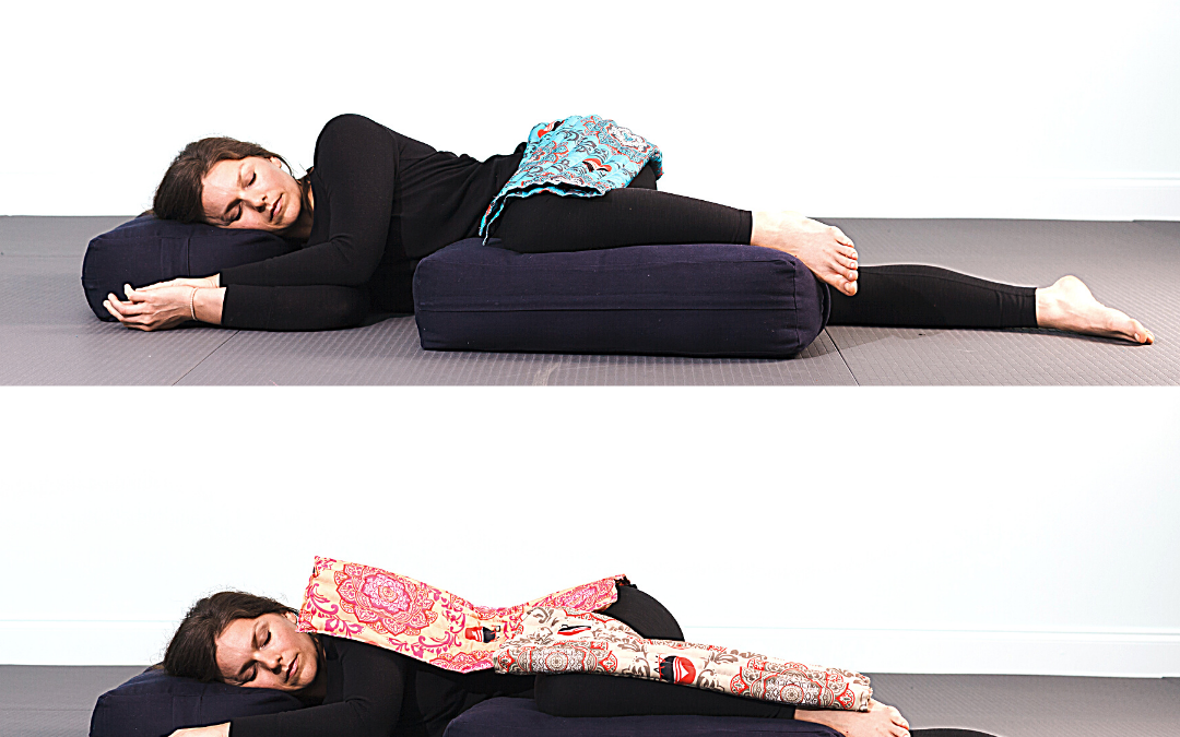 RAVI Side Lying Relaxation Pose – Restorative Yoga