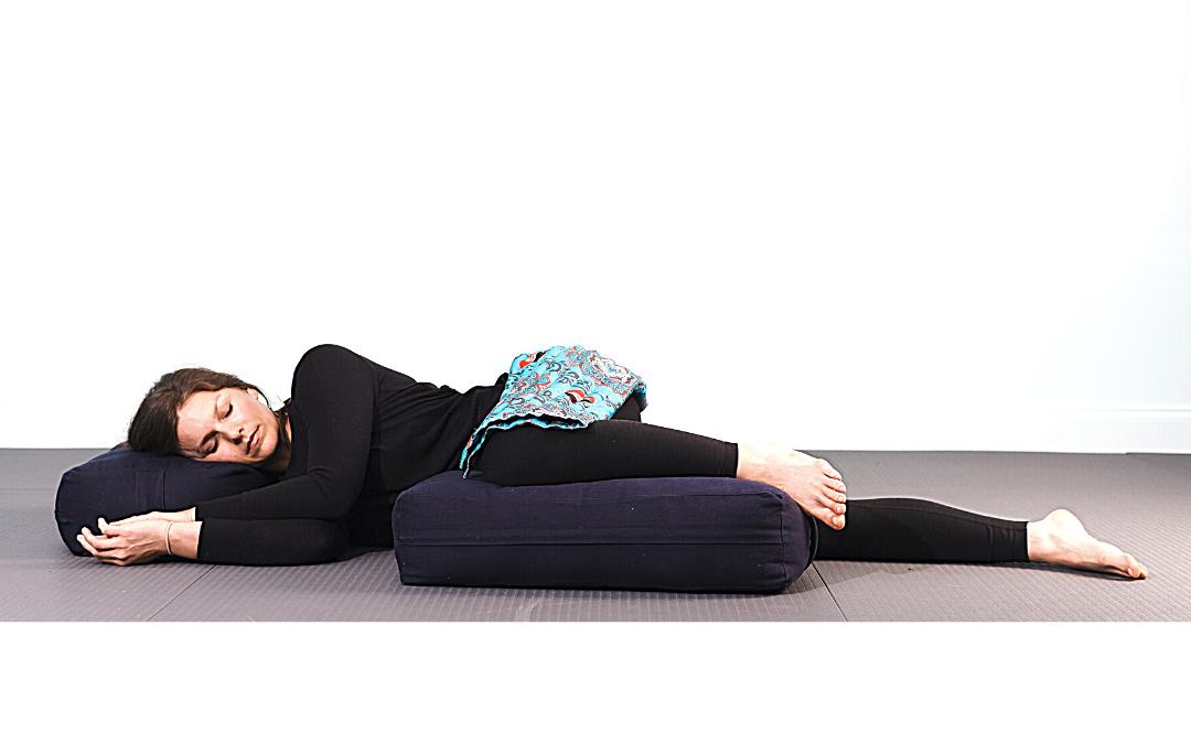 RAVI Side Lying Relaxation Pose – Restorative Yoga
