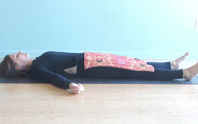I'm just here for Savasana!  Giving up the resistance